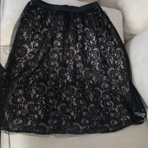 Express black laced skirt